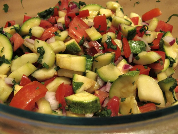 More Summer Salad: Cucumber, Zucchini, and Tomato Salad | The Roaming ...