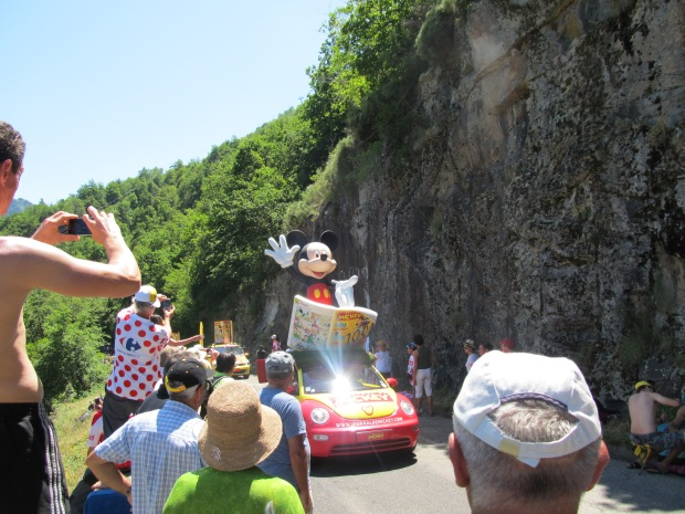 What's a parade without Mickey Mouse?