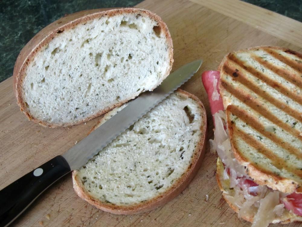 Makes a great knackwurst-sauerkraut Oktoberfest panini!