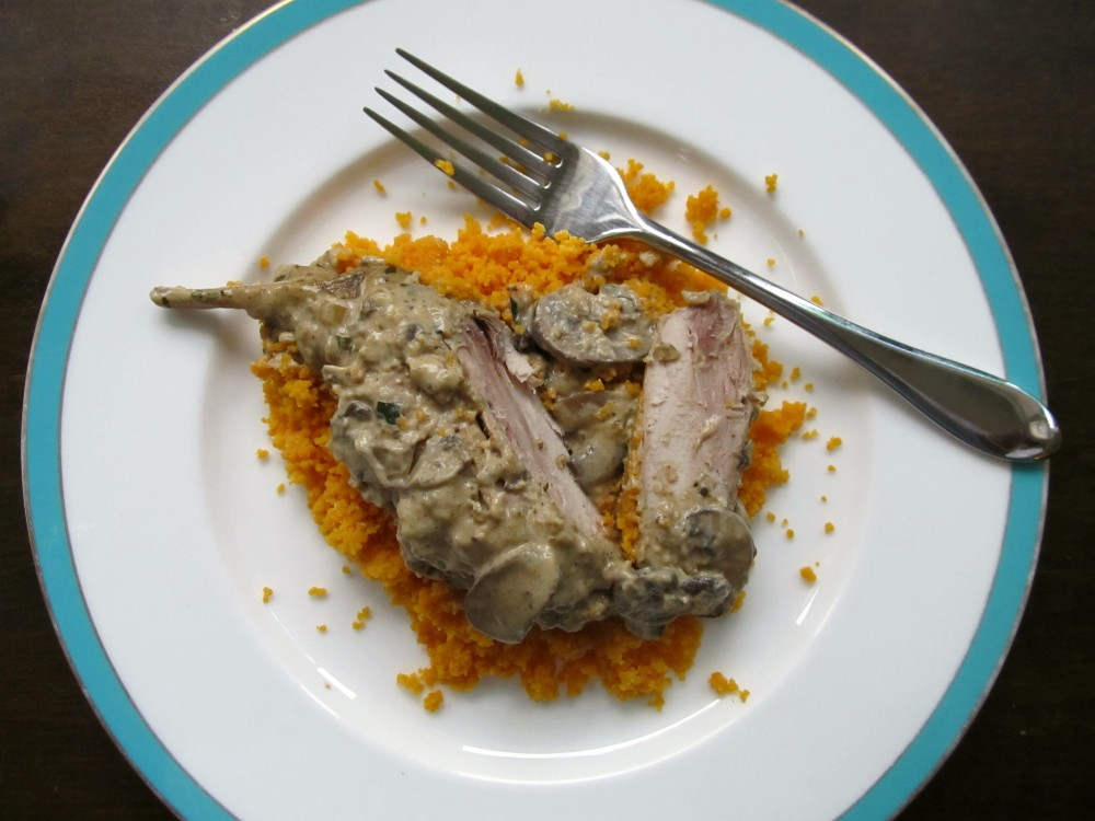 Rabbit with mustard sauce - Lapin a la moutarde