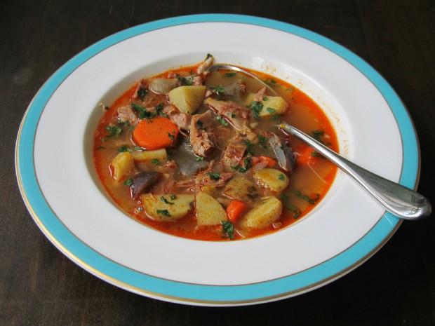 Hungarian Pork Shanks Soup