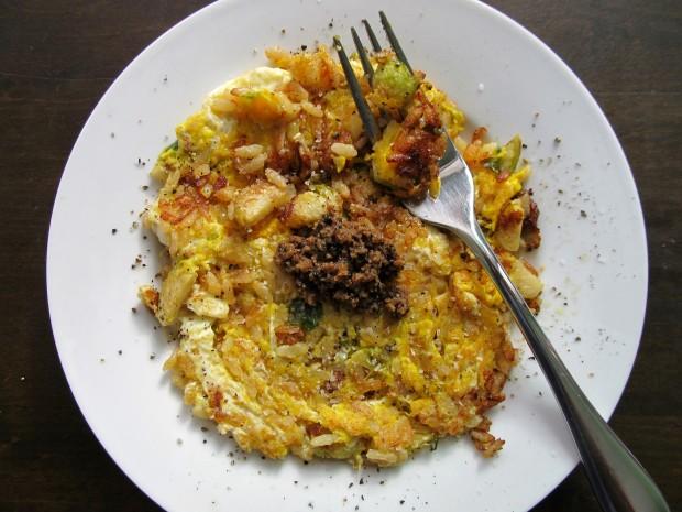 Riso al Salto with truffle hunter sauce