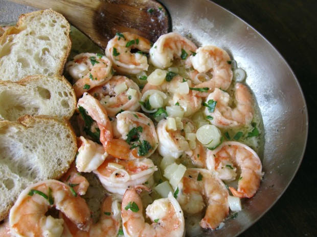 Shrimp Scampi with ramps