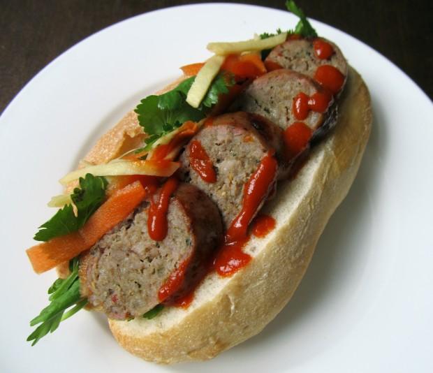 Thai sausage banh mi