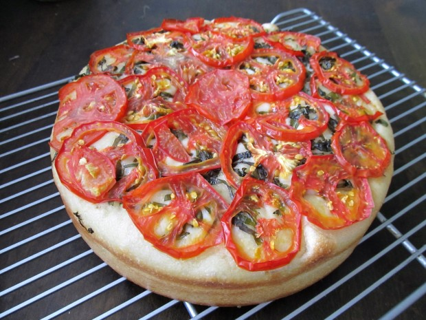 Tomato basil focaccia