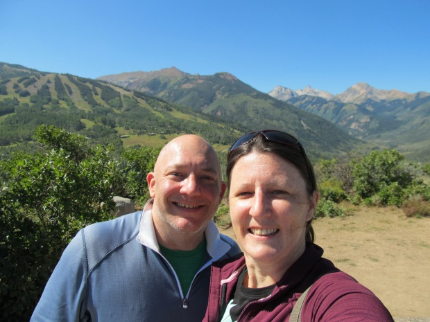 At the end of the ridgeline trail. All downhill to Snowmass Village from here. Closer to those mountains in the back!