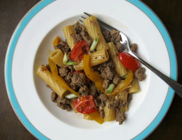 Coffee Rub sausage rigatoni2