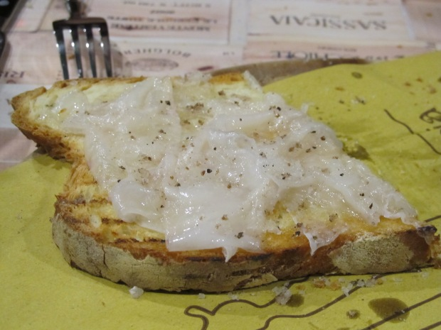 Lardo di Colonnata makes for an excellent lunch on a fall afternoon