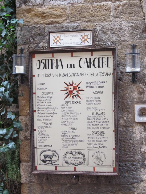 Osteria del Carcere, San Gimignano