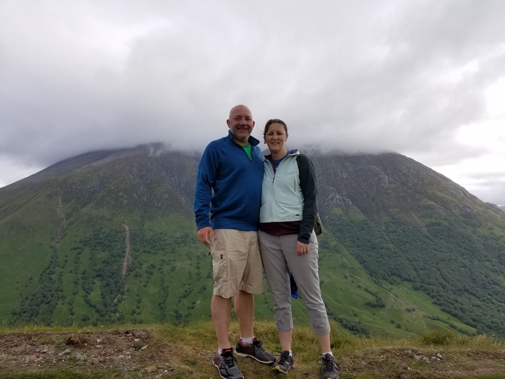 That's Ben Nevis behind us (highest point in Britain)