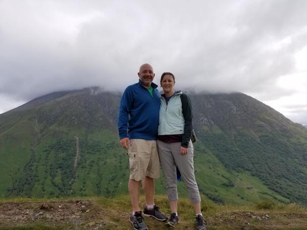 That's Ben Nevis behind us (highest point in Britain)