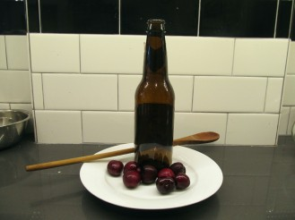 All you need is a beer bottle and wooden spoon