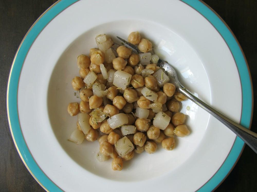 Chick peas with lardo