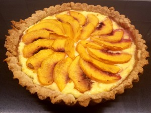 Peach and ricotta tart2