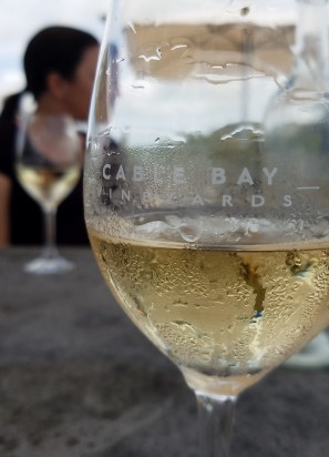 Refreshing glass of viognier